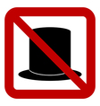 No hat sign vector image