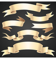 ribbons paper set vector image