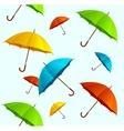 Seamless pattern colorful umbrellas flying vector image