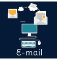 Sending and receiving e-mail concept vector image