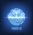 touch id recognition technology concept vector image