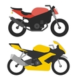 two sport bikes isolated on white background vector image