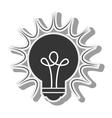 bulb light idea creative design vector image