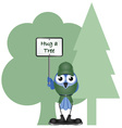 HUG A TREE vector image