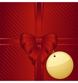 Christmas red gift wrapped background vector image vector image