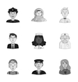 People of different profession set icons in vector image