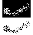 flora on white and black vector image