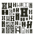 Set versions of letters H vector image
