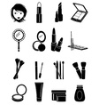 Makeup icons set vector image