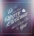 Merry Christmas Vintage retro typo background f vector image
