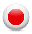 Round glossy icon of japan vector image