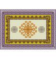 Variegate ethnic pattern for rug vector image
