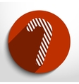 candy cane web flat icon vector image