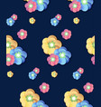 colorful flower print seamless background vector image
