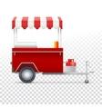 Fast food cart street shop vector image