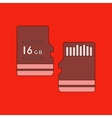 flat icon on background micro SD vector image