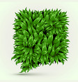 green grass speech bubble on white background eco vector image