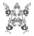 hibiscus flowers drawing and sketch with line art vector image