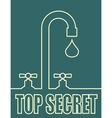 Leak text with drop from faucet vector image