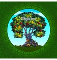 Magical tree with apples and lemons vector image