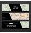 Set of modern design banner template in healthcare vector image