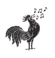 singing rooster vector image