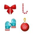 set decoration merry christmas design vector image