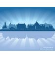 Victoria Canada skyline silhouette vector image vector image