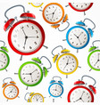 alarm clock pattern background vector image