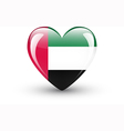 Heart-shaped icon with flag of the UAE vector image vector image