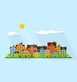 small town street vector image