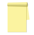 Blank notepad notebook vector image
