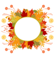 Circle Frame With Autumn Leaves vector image