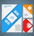 Business brochure 3 vector image