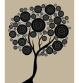 artistic tree vector image vector image