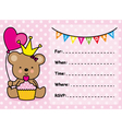 Invitation Card Birthday Girl vector image vector image