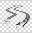 Tire tracks vector image