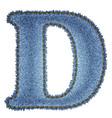 Jeans alphabet Denim letter D vector image