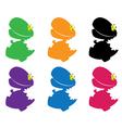 dino massive color vector image vector image
