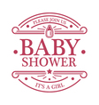 Baby Shower Girl Emblem vector image