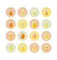 honey jars circled icons set vector image