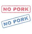 no pork textile stamps vector image