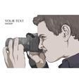 photographer man focus vector image
