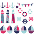 Pink Blue Nautical vector image