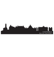 Victoria Canada skyline Detailed silhouette vector image