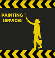 Painting services background with woman silhouette vector image