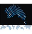 map dot australia vector image vector image