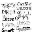 set of inspirational and motivational words vector image