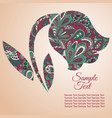 doodle flower tulip zentangl drawing holiday card vector image