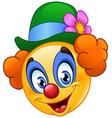 clown emoticon vector image vector image